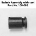 Maglite Solitaire Switch Assembly with tool,  108-000-085, 108-085