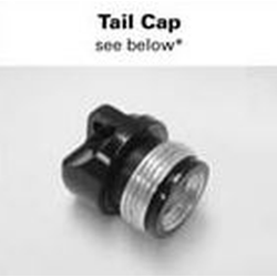 AA Mini Maglite Tailcap Assembly 108-000-215, Black