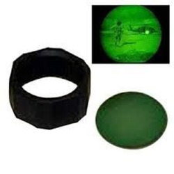 Maglite C or D Cell Flashlight Night Vision Lens, Green ASXXER8