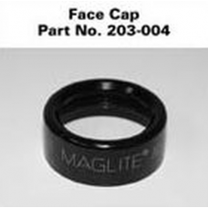 2 AA Mini Maglite Face Cap, Black 203-004, 203-000-004