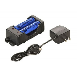 Streamlight 18650 Battery Charging Kit: 120V AC, 2 Batteries