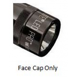 2 AA Mini Maglite PRO LED Replacement Face Cap, Black 255-000-001