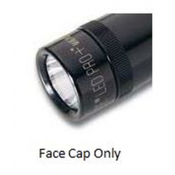 2 AA Mini Maglite PRO+ LED Replacement Face Cap, Black 255-000-008