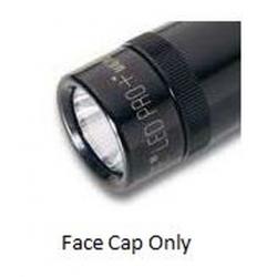 2 AA Mini Maglite PRO+ LED Replacement Face Cap, Black 255-000-008
