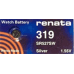 Renata Silver Oxide 1.5 volt Battery 319, SR64, SR527SW, 319TS