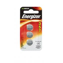 Energizer 357 1.55V Silver Oxide Battery, 3/Pack (SR44), 357BPZ-3N