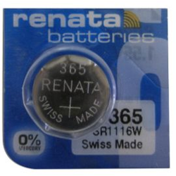 Renata 365/366 SR1116W Silver Oxide Coin Cell Battery, 365MP