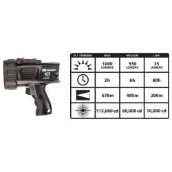 Waypoint 300 Pistol Grip Rechargeable Spotlight with C4 LED, Black, 44911