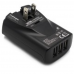 Lenmar 3 Port USB Charger with 3 Intl. AC Adapters, ACUSB344K