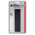 Maglite 2AAA MiniMag Nylon Full Flap Belt Holster, AM3A026, Black