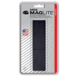 Nylon Full Flap Belt Holster for Maglite 2AAA Mini Maglite, AM3A026, 108-459, Black