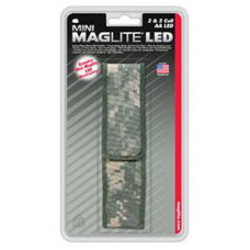 2 AA LED Mini Mag Nylon Full Flap Belt Holster AP2X106, Camo