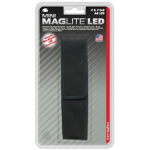 Nylon Full Flap Belt Holster for Maglite 2AA and 3AA LED Mini Maglite, AP2X136J, 108-806, Black