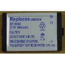 Ultralast Uniden BT0002 3.7V 980mAh Li-Ion Cordless Phone Battery, BATT-0002