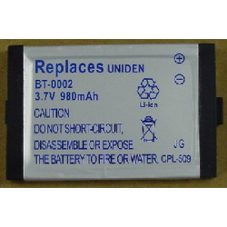 Ultralast Uniden BT0002 3.7V 980mAh Li-Ion Cordless Phone Battery, BATT-0002