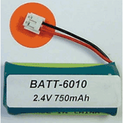 Ultralast VTech 6010 2.4V 750mAh NiMH Cordless phone battery, BATT-6010
