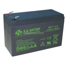 BB Battery, BC7-12T2, 12V 7ah Sealed Lead Acid Battery