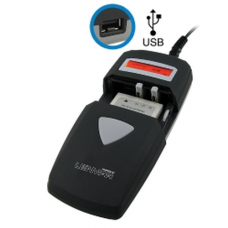 LenMar Universal Battery Charger Li-Ion, NiMH w/ USB and LED Indicator, BCUNI3