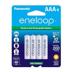 Panasonic Eneloop AAA NiMh Batteries 4/pack, BK-4MCCA4BA