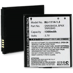 Motorola BP6X Droid 2 3.7V 1300mah Cell Phone Battery, BLI-1114-1.3