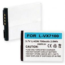 LG VX7100 3.7V 700mAh Li-Ion Cell Phone Battery, BLI-1162-.7