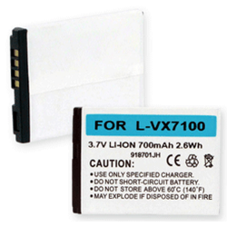 LG VX7100 3.7V 700mAh Li-Ion Cell Phone Battery, BLI-1162-.7