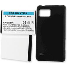 Motorola DROID BIONIC XT875 3.7v 3200mAh Extended Cell Phone Battery, BLI-1197-302