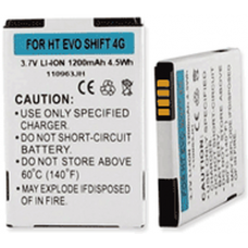 HTC Evo Shift 4G 3.7V 1200 mah Cell Phone Battery, BLI-1209-1.2