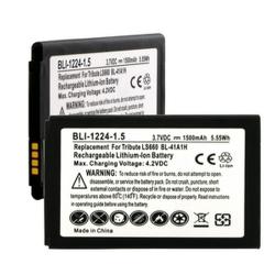 LG BL-41A1H 3.7V 1500mAh LI-Ion Cell Phone Battery, BLI-1224-105