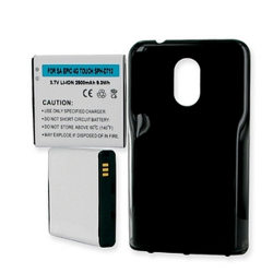 Samsung EPIC TOUCH 4G 3.7v 2400mAh Extended Cell Phone Battery, BLI-1248-204