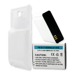 SAMSUNG GALAXY NOTE SGH-I717 3.7V 3800mAh Li-Ion Ex Life Battery White, BLI-1256-308W