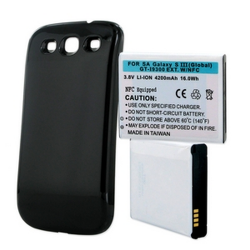 SAMSUNG GALAXY S III GT-I9300 3.8V 4.2Ah LI-ION NFC Cell Phone Battery Black Cover, BLI-1258-402K
