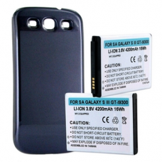 SAMSUNG GALAXY S III GT-I9300 3.8V 4.2Ah LI-ION NFC Cell Phone Battery Silver Cover, BLI-1258-402S