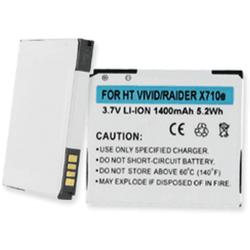 HTC Raider 4G 3.7v 1400mAh Cell Phone Battery, BLI-1280-104