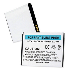 PANTECH BURST P9070 3.7V 1430mAh LI-ION Cell Phone Battery, BLI-1299-104