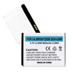 Samsung BRIGHTSIDE SCH-U380 3.7v 850mah Li-Ion Cell Phone Battery, BLI-1304-08