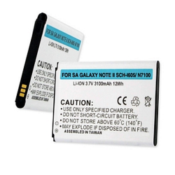 Samsung Galaxy Note II 3.7V 3100mAh SCH-i605 Li-Ion Phone Battery, BLI-1305-301
