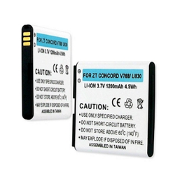 ZTE CONCORD V768 | U830 3.7V 1200mAh Li-Ion Cell Phone Battery, BLI-1311-102