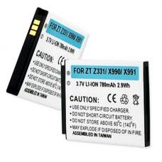 ZTE Z331 3.7V 780mAh Li-Ion Cell Phone Battery