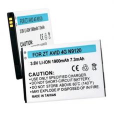 ZTE AVID 4G 3.7V 1900mAh Li-Ion Cell Phone Battery, BLI-1318-109