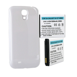 SAMSUNG GALAXY S 4 GT-I9500 3.8V 5200mAh LI-ION NFC Cell Phone Battery, White Cover, BLI-1341-502W