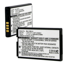 LG LGIP-531A 3.7V 800mAh LI-Ion Cell Phone Battery, BLI-1350-08