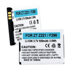 ZTE Z221 3.7V 920mAh Li-Ion Cell Phone Battery, BLI-1355-09