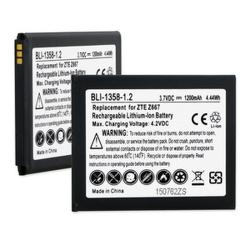ZTE PRELUDE 2 3.7V 1500mAh Li-Ion Cell Phone Battery, BLI-1358-105