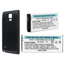 SAMSUNG GALAXY NOTE 4 3.85V 6000mAh Li-ION NFC EXT LIFE Cell Phone Battery Black cover, BLI-1407-6B