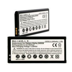 SAMSUNG GALAXY ALPHA 3.8V 1860mAh LI-ION Cell Phone Battery, BLI-1435-109