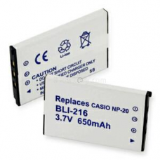 Casio NP-20 3.7V 650mAh Digital Camera Battery, BLI-216