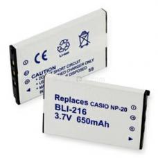 Casio NP-20 3.7V 650mAh Digital Camera Battery, BLI-216