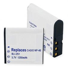 Casio NP-40 3.7V 1250mAh Digital Camera Battery, BLI-251