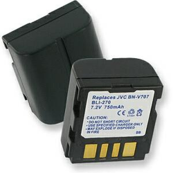 JVC BN-VF707 7.2V 750mah Camcorder Battery, BLI-270
